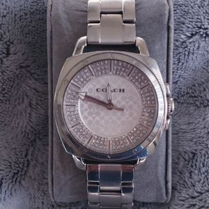 COACH Stainless Steel Watch with Crystals